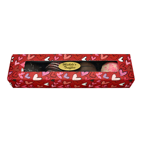 4 pc Truffle Assortment in heart sleeve gift box