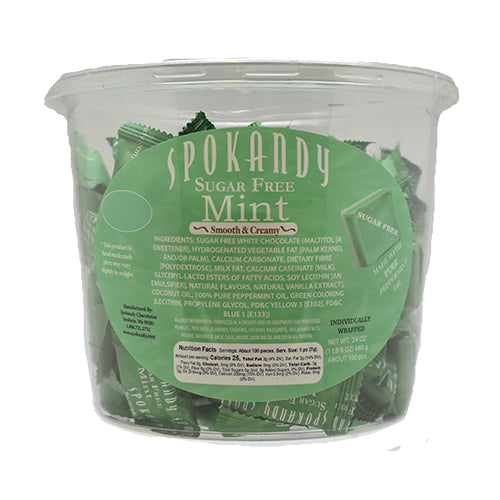 Sugar Free Green White Mint Tub