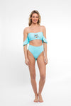 My Friend Glenda Top in Highlighter Blue - Abruzzo Swim