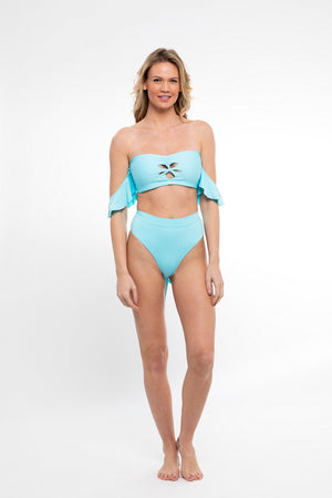 Sideout! Bottoms in Highlighter Blue - Abruzzo Swim