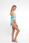 SWIM SALE My Friend Glenda Top in Highlighter Blue - Abruzzo Swim