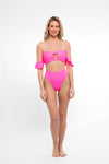 SWIM SALE My Friend Glenda Top in Highlighter Pink - Abruzzo Swim