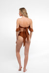SWIM SALE Sideout! High Rise Bottoms/ Coconut - Abruzzo Swim