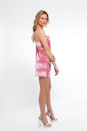 In Your Dreams! Mini Dress/ Blush Velvet - Abruzzo Swim