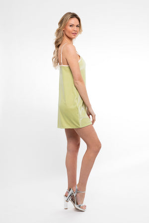In Your Dreams! Mini Dress/ Moss Velvet - Abruzzo Swim