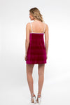 In Your Dreams! Mini Dress/ Sangria Velveteen - Abruzzo Swim