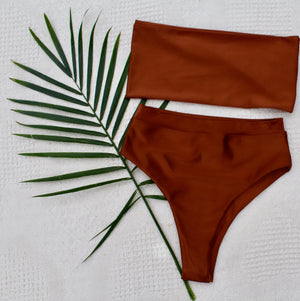 Seamless Bandeau Top/ Coconut - Abruzzo Swim