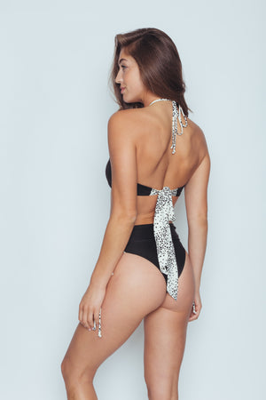 MDW FLASH SALE Tied Down Bottom (Black Dot) - Abruzzo Swim