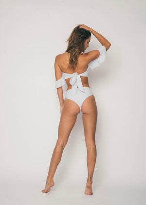 Sideout! Hi Rise Bottoms / Tulum White - Abruzzo Swim