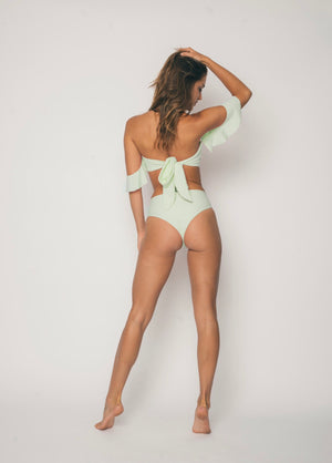 Sideout! Hi Rise Bottoms/ Limesickle - Abruzzo Swim