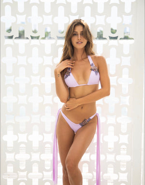 Plumeria Bottoms in Sweat Pea Purple - Abruzzo Swim