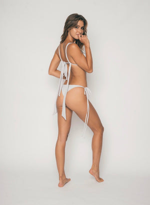 Orchid Tie Side Bottom in Silver Shatter - Abruzzo Swim
