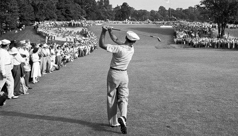 Ben Hogan one iron shot 1950