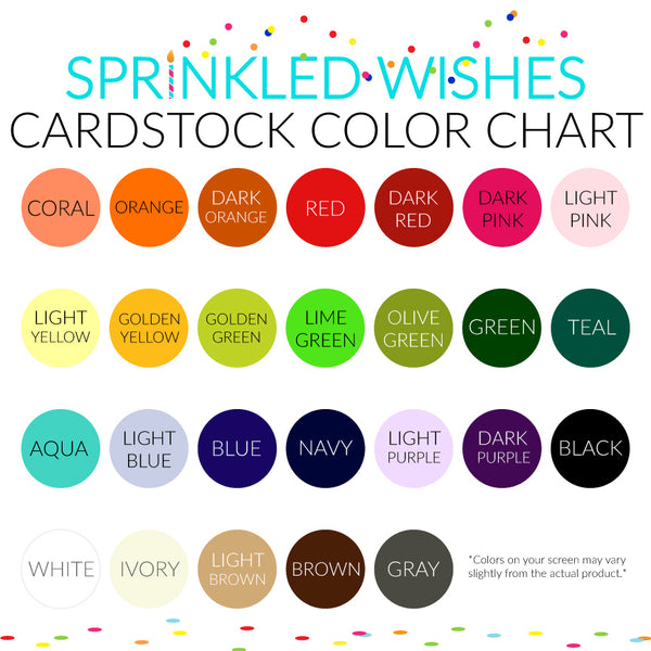 Sprinkled Wishes Color Chart