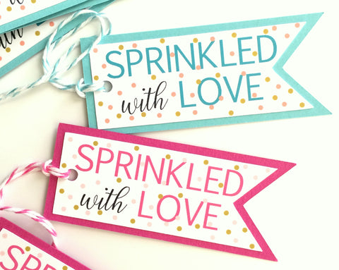 Sprinkled With Love - Baby Sprinkle Favor Tags