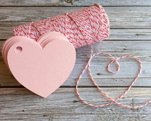 Blank Heart Shaped Tags