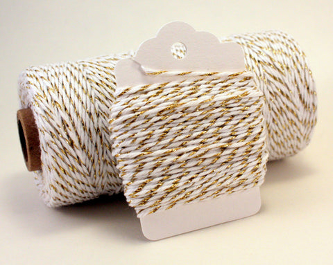 Gold and White Metallic Baker's Twine