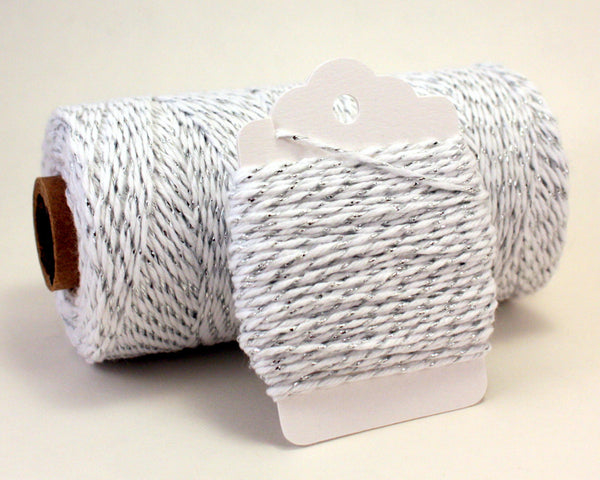 Silver and White Metallic Baker's Twine