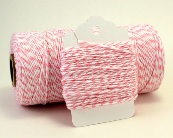 Light Pink and White Baker's Twine