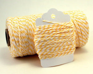 Yellow and White Baker's Twine