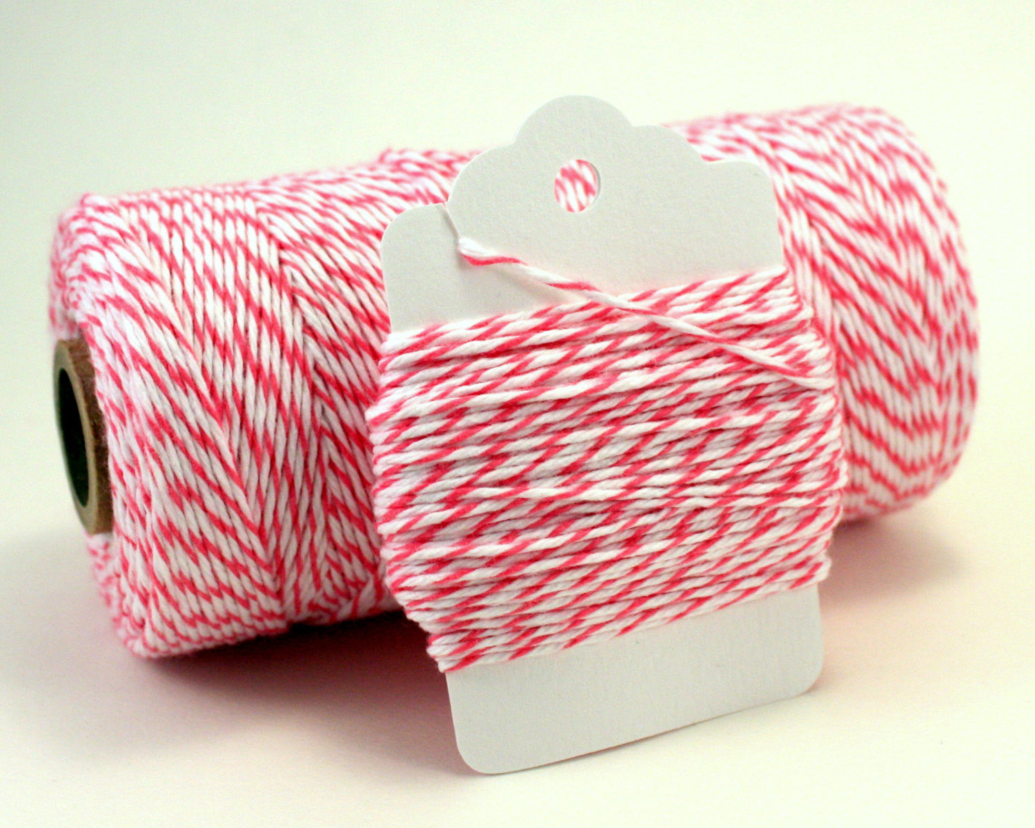 Dark Pink and White Baker's Twine