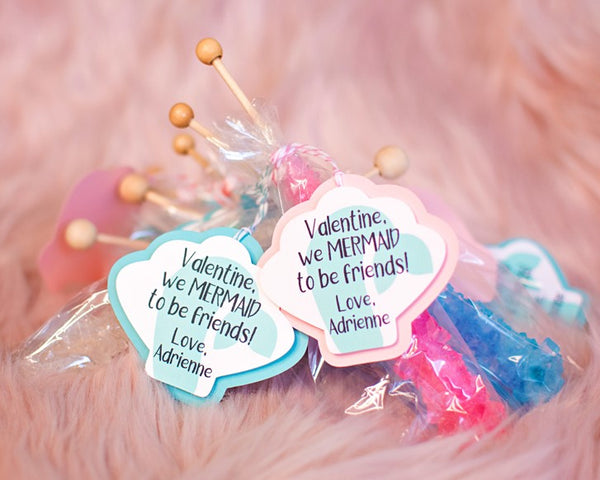 Mermaid Preschool Treat Tags