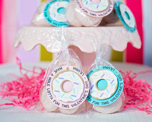 Donut Valentine Tags for Girl