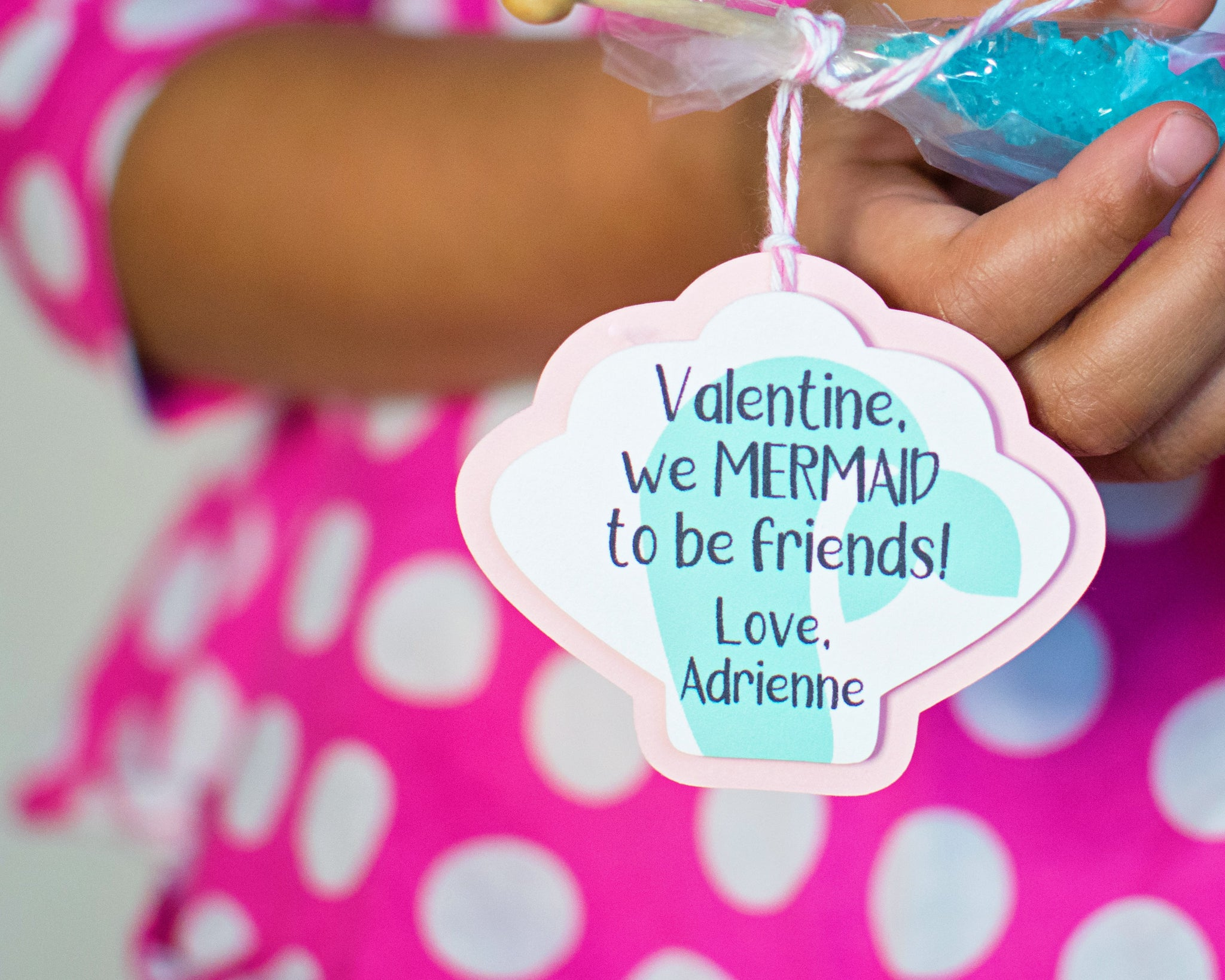 Mermaid Valentine Tags