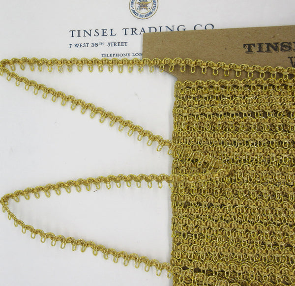 "Gold Metallic Scallop Trim With Asst Colors 3/8"" 2 Yards"