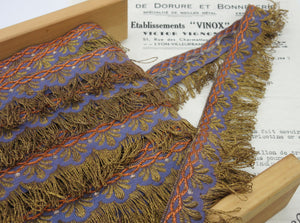 Blue Fancy Ribbon Looped Fringe