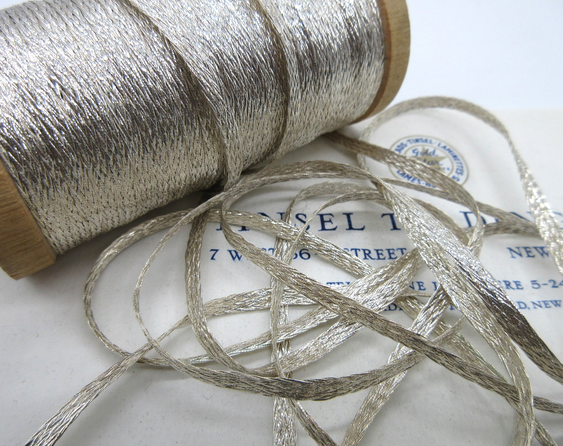 "Flat Silver Mesh Metallic Trim 1/8"" 2 Yards"