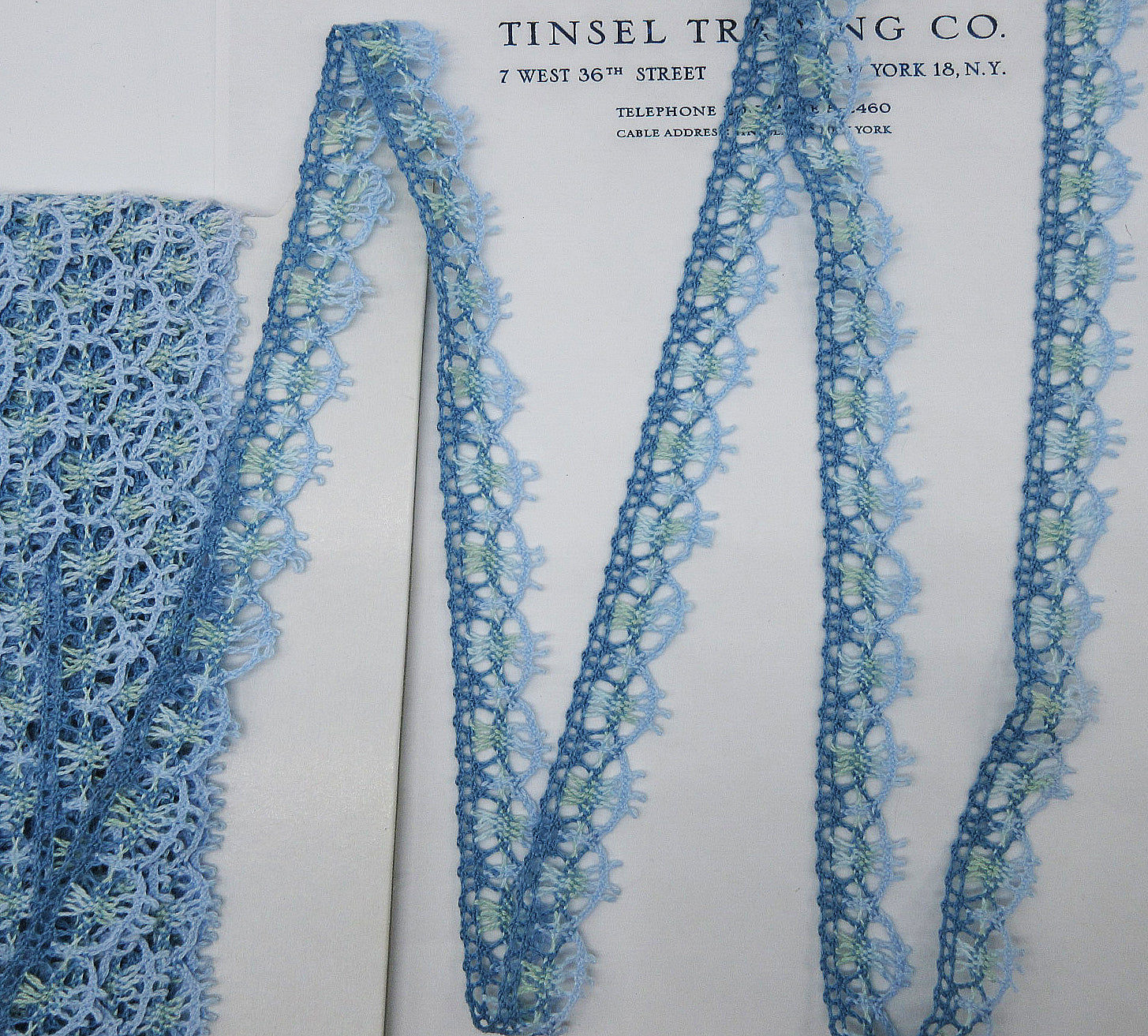 Multi Color Blue Lace Trim 3 Yards - SALE