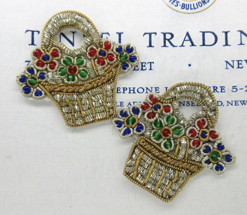 Flower Basket Bullion Pair - SALE