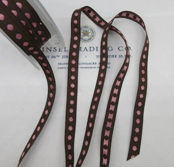 "French Polka Dot Ribbon 7/16""  6 Yards - SALE"