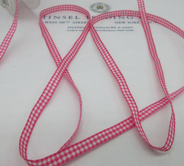 "Gingham Ribbon - 1/4"" 4 Yards"