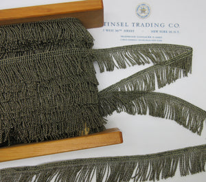 "Dark Gold Metallic Twist Fringe - 1"" - SALE"