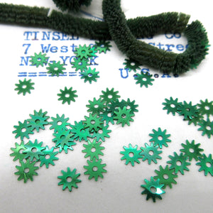 Blue and Green Gear Sequins 1 Strand 1000 Pieces