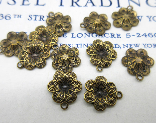 Floral Stampings - 2 Sizes/Styles - 12 Pcs