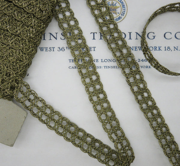 "Double Ring Metallic Trim 9/16"" - 4 Colors"