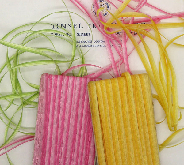 "3 Colors French Ombre Ribbon 3/16"" 3 Yards"