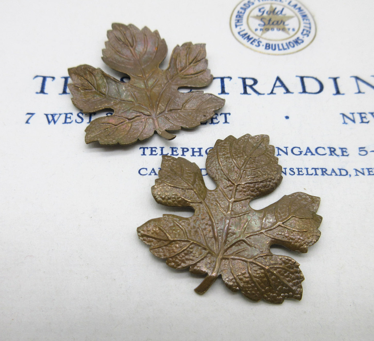 Pair Leaf Stampings