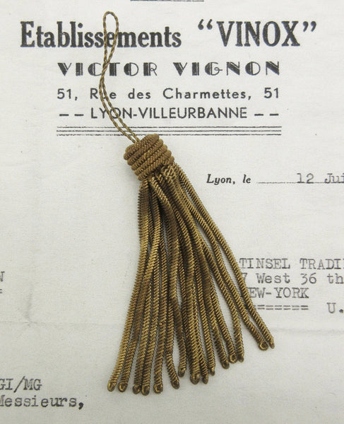 Dark Gold Metallic Bullion Metallic Tassel - 5 Sizes