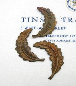 Curved Feather Stampings 3 Pcs