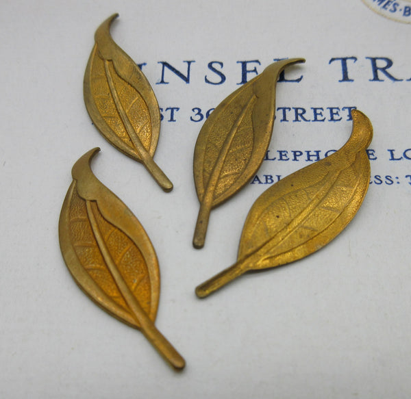 Long Leaf Stampings - 2 sizes, 2Pcs - 4 Pcs