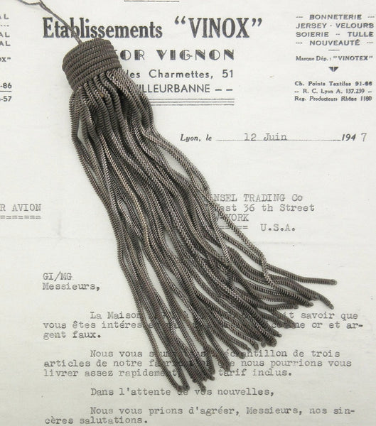Pewter Metallic Bullion Tassels - 4 Sizes