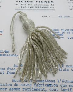 Silver Metallic Bullion W/Woven Top Tassel