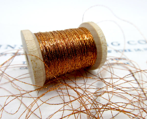 Antique French Metallic Flat Twist 2-ply