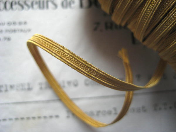 Gold Military Metallic Wire Trim 1/8""