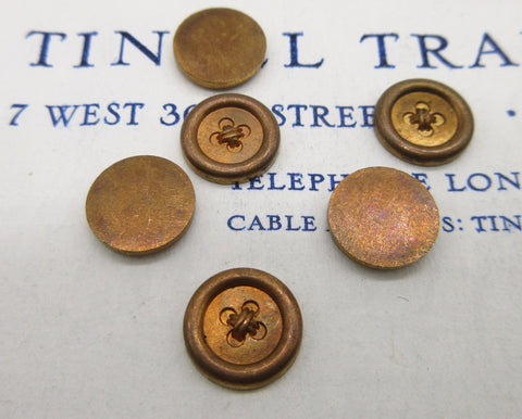 Tiny Copper Button Stampings