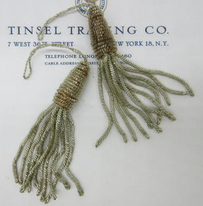 Silver and Light Gold Bullion Tassels Pair- SALE